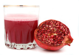 Pomegranate Juice Helps in Weight Loss